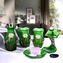 KHSKX 5-Stück Garten Fach für Bad kreative Mode Liebhaber waschen Cup neue housewarming Geschenke,mit fünf Stück Abdeckung