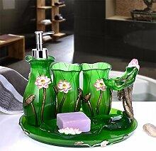 KHSKX 5-Stück Garten Fach für Bad kreative Mode Liebhaber waschen Cup neue housewarming Geschenke,Satz 6