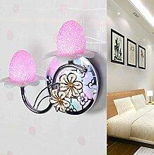 KHSKX Crystal Nachttischlampe Schlafzimmer, Flur Treppe Wandleuchten, Garten mit Schalter, Wandleuchte
