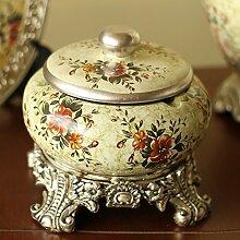 KHSKX europäischen stil garten dekorationen, süßigkeiten glas - aschenbecher, retro - keramik - aschenbecher