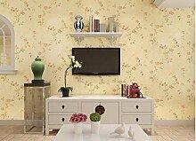 KHSKX-Nicht Aus Tapete, Wohnzimmer, Schlafzimmer, Hintergrund - Tapete, Retro - Garten - Tapete, 10 * 0.53M,B