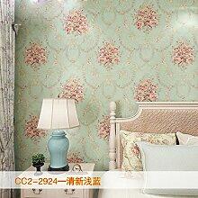 KHSKX-Retro - Vlies Tapete, Wohnzimmer Hintergrund Wand, Europäischen Stil Garten Bronzierens, Große Blume Schlafzimmer Tapete,G