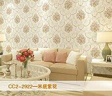 KHSKX-Retro - Vlies Tapete, Wohnzimmer Hintergrund Wand, Europäischen Stil Garten Bronzierens, Große Blume Schlafzimmer Tapete,C