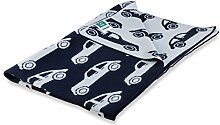 Kinderdecke Maximilian mit Auto Motiv | Öko-Tex zertifiziert | kuschelige Decke aus Baumwolle | Größe wählbar (100x120 cm) Baumwolldecke - Kuscheldecke