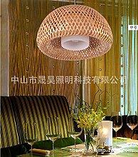 kreative garten bambus rattan kronleuchter, schlafzimmer, balkon, dekorative kronleuchter,300
