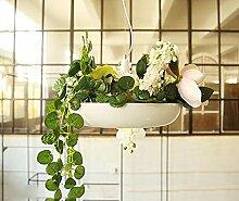 Kreative Kronleuchter,Deckenleuchter Hängende Gärten Treppe Kronleuchter kreative minimalistischen weißen Garten Blumen und Blumentöpfe im Restaurant Kronleuchter, energiesparende LED-Kronleuchter Pendelleuchten