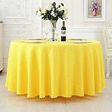 L&Y Tischdecken / Tischdecke Restaurant Tischdecken Hotel Tischdecken runde Tischdecken Tapete europäische minimalistischer Textur Kaffee Tischtuch Tisch Röcke runde Tisch Durchmesser 180CM-360CM Polyestergewebe ( Farbe : B , größe : Diameter 240 )
