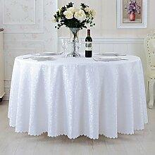 L&Y Tischdecken / Tischdecke Restaurant Tischdecken Hotel Tischdecken runde Tischdecken Tapete europäische minimalistischer Textur Kaffee Tischtuch Tisch Röcke runde Tisch Durchmesser 180CM-360CM Polyestergewebe ( Farbe : F , größe : Diameter 200 )