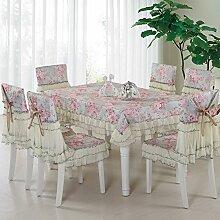 Ländliche Tischdecke,Der Stil Der Garten Tischdecke,Kissen Und Bezüge Für Die Stühle,Europäische Spitze Couchtisch Tuch Stuhl Stuhl Stuhl Sets-H 150*200cm(59x79inch)