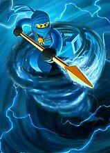 Lego Ninjago 24x33 inch / 60x83 cm Plastic Poster Kunststoff Plakat Wasserdicht | Anti-Fade | Kann auf den Außenbereich/Garten/Badezimmer CTJ-AACB/D93D
