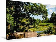 Leinwand Botanischer Garten 75x50cm, Special-Edition Wandbild, Bild auf Keilrahmen, Fertigbild auf hochwertigem Textil, Leinwanddruck, kein Poster