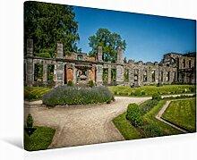 Leinwand Garten Fr. 45x30cm, Special-Edition Wandbild, Bild auf Keilrahmen, Fertigbild auf hochwertigem Textil, Leinwanddruck, kein Poster