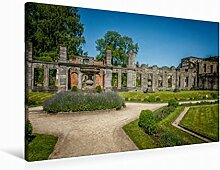 Leinwand Garten Fr. 90x60cm, Special-Edition Wandbild, Bild auf Keilrahmen, Fertigbild auf hochwertigem Textil, Leinwanddruck, kein Poster