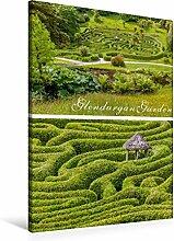 Leinwand Garten-Labyrinth Glendurgan Garden in Cornwall, England 60x90cm, Special-Edition Wandbild, Bild auf Keilrahmen, Fertigbild auf hochwertigem Textil, Leinwanddruck, kein Poster