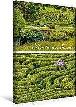 Leinwand Garten-Labyrinth Glendurgan Garden in Cornwall, England 30x45cm, Special-Edition Wandbild, Bild auf Keilrahmen, Fertigbild auf hochwertigem Textil, Leinwanddruck, kein Poster