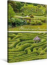 Leinwand Garten-Labyrinth Glendurgan Garden in Cornwall, England 50x75cm, Special-Edition Wandbild, Bild auf Keilrahmen, Fertigbild auf hochwertigem Textil, Leinwanddruck, kein Poster