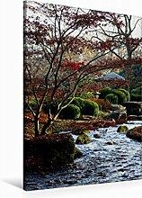 Leinwand Japanischer Garten, Botanischer Garten Augsburg, Deutschland 60x90cm, Special-Edition Wandbild, Bild auf Keilrahmen, Fertigbild auf hochwertigem Textil, Leinwanddruck, kein Poster