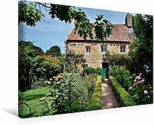 Leinwand Jersey, Idylle Garten 45x30cm, Special-Edition Wandbild, Bild auf Keilrahmen, Fertigbild auf hochwertigem Textil, Leinwanddruck, kein Poster