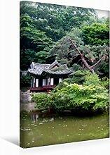 Leinwand Verträumter Garten 30x45cm, Special-Edition Wandbild, Bild auf Keilrahmen, Fertigbild auf hochwertigem Textil, Leinwanddruck, kein Poster