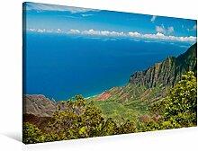 Leinwand Waimea Canyon, Garten-Insel (Kauai) 75x50cm, Special-Edition Wandbild, Bild auf Keilrahmen, Fertigbild auf hochwertigem Textil, Leinwanddruck, kein Poster