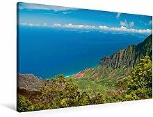 Leinwand Waimea Canyon, Garten-Insel (Kauai) 90x60cm, Special-Edition Wandbild, Bild auf Keilrahmen, Fertigbild auf hochwertigem Textil, Leinwanddruck, kein Poster