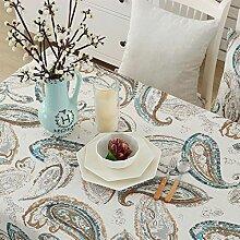 Lepra Stoff Baumwolle Tischdecke/Literarische Kleine Frische Garten Einfaches Tuch-A 130*180cm(51x71inch)