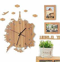 LFNRR Einfache kreative Wohnzimmer Wanduhr Wecker stumm Schlafzimmer Garten Schautafeln28*36cm Schöne Dekoration