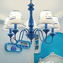 LFNRR Kinderzimmer Lampe American Princess Zimmer Kronleuchter Nordic minimalistischen Kronleuchter kreative einfache Europäische garten Kronleuchter Qualitativ hochwertige Produkte mit hoher Qualität