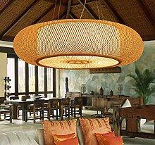 LFNRR Kronleuchter aus Bambus Garten Wohnzimmer Schlafzimmer mit Japanischem Teehaus restaurant Kronleuchter Kronleuchter Lampe Handbuch kreative Persönlichkeit Medium Qualitativ hochwertige Produkte mit hoher Qualität