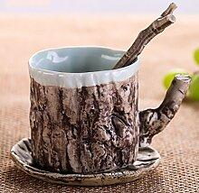 LHshb Becher Keramik-Becher Kaffeetassen Keramik-Stangen tassen Milch-Getränke Kaffeehaferl Kreative Geschenke ( farbe : 3 )