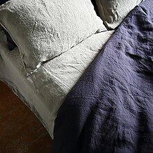 LinenMe 0451703 Silver Bettwäsche Leinen Leinen-Spannlaken, 150 x 200 x 20 cm