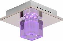 Lucide Killy LED Deckenleuchte 20/20/15,5 cm G9/40W+RGB Fernbedienung 32150/21/11