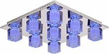 Lucide Killy LED Deckenleuchte 58/58/15,5 cm G9/40W+RGB Fernbedienung 32150/29/11