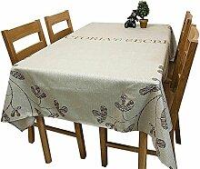 Max Home@ Europäische Tischdecke Chinesische Garten Blumen Runde Tisch Tischdecken Baumwoll Hanf Tee Tischdecke Tischdecken ( größe : 140n*140cm )