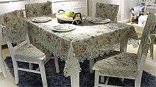 Max Home@ Gestickte Tischdecke runden Tisch im europäischen Stil Garten Spitzenstoff Hohl Platzdeckchen Tischfahne Tischdecken Couchtisch Stuhl ( größe : 75*200cm )