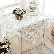 Max Home@ Gestickte Tischdecke runden Tisch im europäischen Stil Garten Spitzenstoff Hohl Platzdeckchen Tischfahne Tischdecken Couchtisch Stuhl ( größe : 85*85cm )
