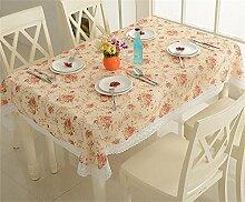 Max Home@ Moderne im europäischen Stil Garten Tuchkunst / Stickerei / Platin / Leinen / Baumwolle / Spitze Tischdecken ( größe : 130cm*180cm )