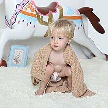 MicBridal® Babydecke / Kinderdecke / Erstlingsdecke mit cutem Muster aus Baumwolle mehrfunktional Tagesdecke für Kinder und Baby alle Jahreszeiten (100x130cm, Muster8)