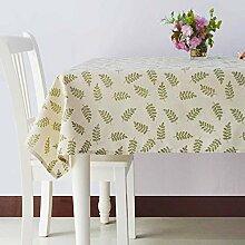 Minimalistische Moderne Couchtisch Tischdecke/Kunst Garten Baumwolle Tischdecke-A 140x220cm(55x87inch)