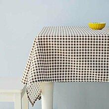 Minimalistische Moderne Couchtisch Tischdecke/Kunst Garten Baumwolle Tischdecke-B 140x140cm(55x55inch)