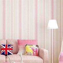 Mittelmeer Blau Vertikal Gestreifte Tapete Nonwovens Schlafzimmer Wohnzimmer Tapete Rosa Textur,Pink-OneSize