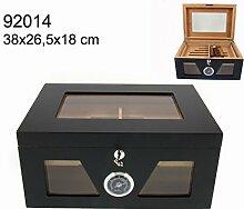 Moderner Humidor Kristall Glasfront Glasdeckel 100-150 Zigarren