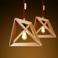 MSAJ-Garten Holz Holz Gegenwind Kronleuchter Restaurant bar Cafe Kleidung shop eine Studie Lampe