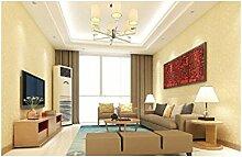 Non - Vliestapete Einfach Farbe Tapete Karierte Tapete Schlafzimmer Wohnzimmer,Warmyellow