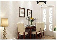 Non - Vliestapete Einfach Farbe Tapete Karierte Tapete Schlafzimmer Wohnzimmer,White