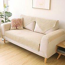 Plaid Sofakissen/Stil der Garten Sofakissen/Einfache und moderne Couch Handtücher der vier Jahreszeiten-A 80x150cm(31x59inch)