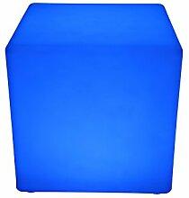 point-garden Leuchtwürfel LED Farbwechsel 40cm Lampe Würfel Sitzwürfel Akku FB