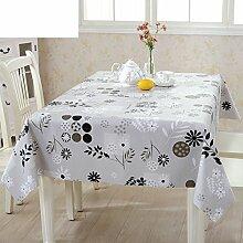 PVC Einweg-Tischdecken/wasserdichte Tapete/Bildende Kunst/Tischdecken/ Anti-Kamelie Tischdecke/Tischdecke decke/Tischsets/Tischsets-F 135x160cm(53x63inch)