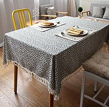 Qwer Frisch garten Esstische Hotel West Restaurant Baumwolle Tischdecken, Tischdecken, 140 * 140 Handtuch