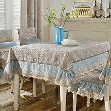 QZZ Tischdecken European Style Wohnzimmer Spitze Quadrat Essentisch Tuch Tisch Tuch Set Tuch Set Haushalt Baumwollsamen Couchtisch Tapete Rechteck ( Farbe : A , größe : 110*170cm )